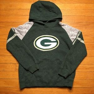 Green Bay Packers Sweatshirt Hoodie - Boys Medium